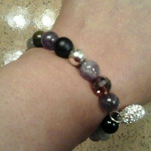 Believe  Precious Stone and Crystal Bracelet